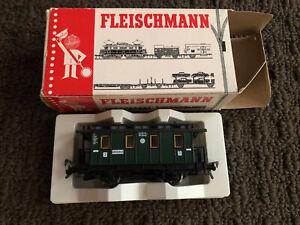 Fleischmann Vintage HO scale Model 5051 Caboose Nürnberg DB Train Car NIB