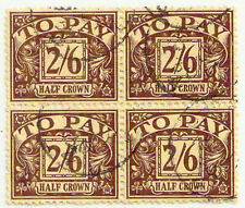 1930 KGV 2/6 Postage Due SG D18 Block x4 fine used