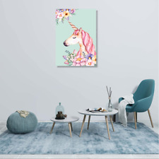 Canvas Painting Prints Unicorn Picture Photo Wall Art Home Office Decor Frame