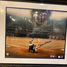 HANK AARON Signed 16X20 Framed 715 HR Photo - STEINER