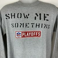 Vintage 2001 NFL Playoffs Large T Shirt Show Me Something Football Graphic Tee