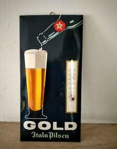 Birra ITALA PILSEN - termometro pubblicitario - BAR anni '60 in cellograf