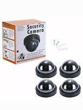 4 Dummy Camera CCTV Security Surveillance Dome Cam Fake IR LED Light Outdoor