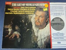 THE ART OF NICOLAI GHIAUROV (OPERA ARIAS) LP, DECCA SXL 6859