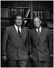 Dwight Eisenhower & John Gunther, Author 1948