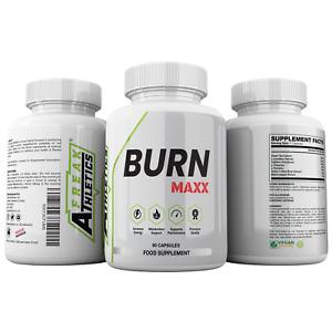 Burn Maxx Fat Burner - Fat Burners Suitable for Both Men & Women - 90 Capsules -