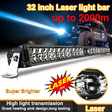 """Osram Chip 32"""" Laser LED Light Bar Dual Row Combo Beam for 4WD Offroad Pickup"""