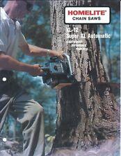 Equipment Brochure - Homelite - XL-12 Super XL Automatic Chain Saw c60's (E4364)