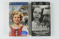 Shirley Temple Lot of 2 - New Sealed VHS - The Little Princess & Heidi