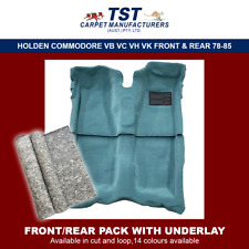 MOULDED CAR CARPET (G11) HOLDEN COMMODORE VB VC VH VK F&R + UNDERLAY 78-85