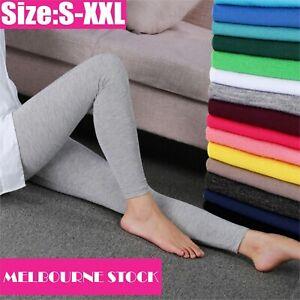 Women`s Ankle Length Soft stretchy Leggings S-XXL Au Size 8-20 Lady`s Leggings