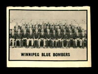 1962 Topps CFL #169 Winnipeg Blue Bombers EX+ X1351511