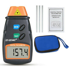 Dt 2234c Handheld Non Contact Lcd Digital Laser Tachometer Rpm Speed Test Tool