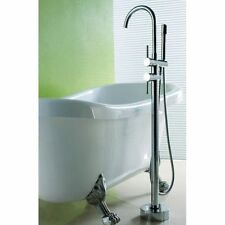 MODERN STYLE FREE STANDING CHROME BRASS BATH MIXER FILLER SHOWER TAPS FAUCET