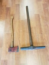 Vintage Lot of 2 Tools~ An  Axe and a Sledge Hammer~  Great buy! We ship!