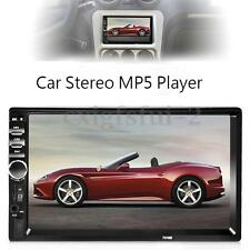 7'' 1080P 2 DIN BLUETOOTH AUTORADIO MP5 MP3 TOUCH FM USB +TELECAMERA RETROMARCIA
