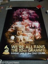 "Beyonce - Original Rolled 2010 Grammy Bus Shelter Poster - 48"" X 70"""
