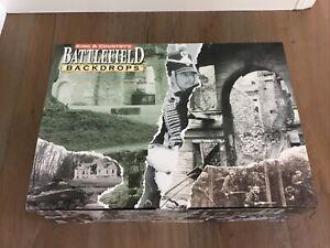 King & Country SP018 SP18 European Farm Courtyard Battlefield Backdrops Diorama