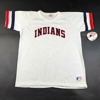 Vintage Cleveland Indians Youth Boys XL White Jersey V Neck Made In USA NWT