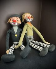 Kamar Japan 1966 Felt sad-face Clowns, 14�