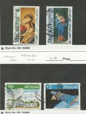 Malawi, Postage Stamp, #606-607, 610-611 Used, 1992 Space, Christmas