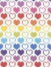 Timeless Treasures Novelties C3995 Multi Knit Hearts  FREE US SHIP Cotton BTY