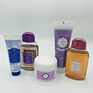 Perlier Lot Cassis Blackberry Sandalwood Lavender Lotion Gels Body Cream