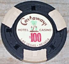 $100 VINTAGE 2ND EDT GAMING CHIP FROM THE CASTAWAYS CASINO LAS VEGAS