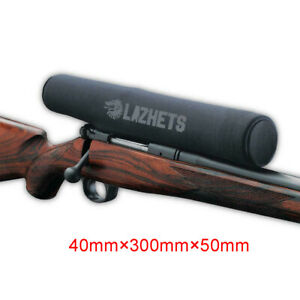 Lazhets Neoprene Rifle Scope Cover Dust Damage Shooting Protection 40×300×50mm