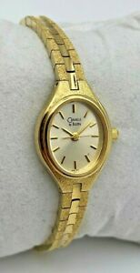 Vintage 1998 Women's CARAVELLE By Bulova Gold Tone Petite Bracelet Watch, Quartz