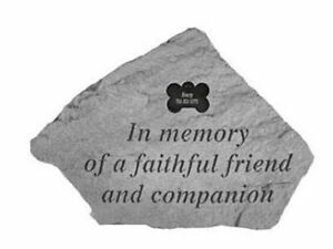 Personalised Pet Cat Dog Memory Faithful Friend Garden Stone Plaque Grave Marker