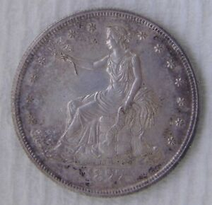 1877 S Trade Silver Dollar, UNCIRCULATED, GREAT COIN!