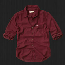 NWT HOLLISTER By Abercrombie Men Slim Fit Malibu Classic Oxford Plaid Shirt New