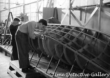Building Airplane Pontoons, Vought-Sikorsky Aircraft -1940- Historic Photo Print