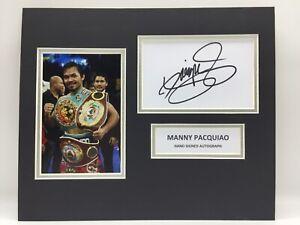 RARE Manny Pacquiao Boxing Signed Photo Display + COA AUTOGRAPH MAYWEATHER WBC