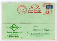 GERMANY: 1954 Commercial postcard with a BERLIN NOTOPFER stamp (C48385)