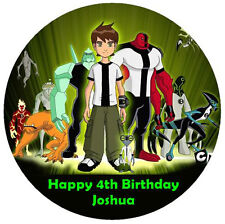 BEN 10 Personalised Edible ICING Party Birthday Cake Decoration Topper Image