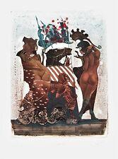 Exlibris Ex libris erotic etching Bookplate  PETER VELIKOV