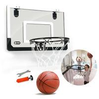 Mini Basketball Hoop With Ball 18 inch x12 inch Shatterproof Backboard H6W3