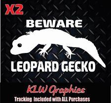 Gecko Lizard Reptile Leopard Decal Window Bumper Sticker Car Decor