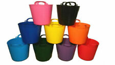 PK OF 3 42L FLEXI TUB BUCKET PLASTIC FLEXIBLE TUBS STORAGE CONTAINER FEED TRUG