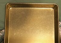 """Vintage Wear Ever USA G5220T Gold Tone Textured Metal Tray 13 X 9 1/2 X 1"""""""