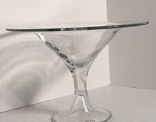 Large Vintage Glass Pedestal Bowl