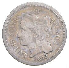 ***3***THREE***Cent*** - 1870 Three Cent Nickel Piece - Tough to Find *564