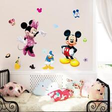 Adesivo parete 3D topolino minnie paperino cartoni camera bambini Muro Stickers