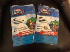 2- Marvel heroes 600 stickers autocollants activity pad