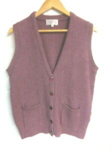 Country Collection heather wool button tank top/sleeveless cardigan size M/14-16