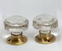 2 X Beautiful Glass Door Knob Handle Builder Hardware