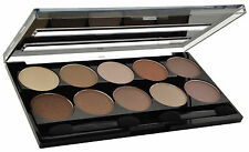 W7 10 Out of 10, Eye Shadow Palette. 10 polvere ombre in nudi, Marroni, CREME