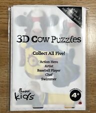 Chick-fil-A Kids Meal Toys:3D COW PUZZLE - ACTION HERO - New Sealed